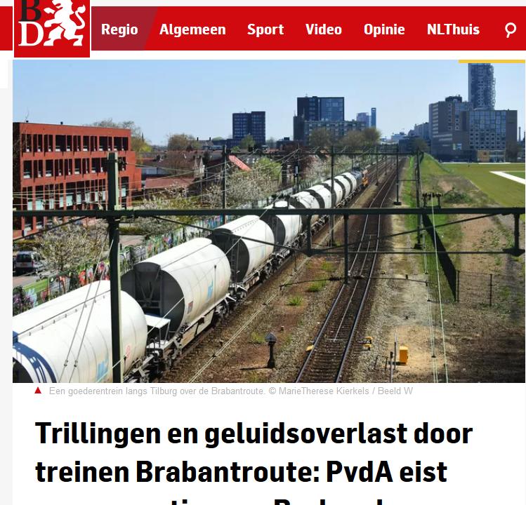Brabantse PvdA: compensatie voor goederen- en giftreinen